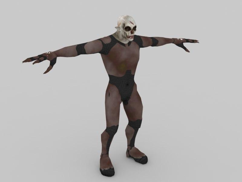 free max model character alien