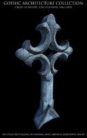 3d model gothic cross ewerby