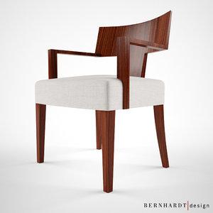 3d max bernhardt design alder chair