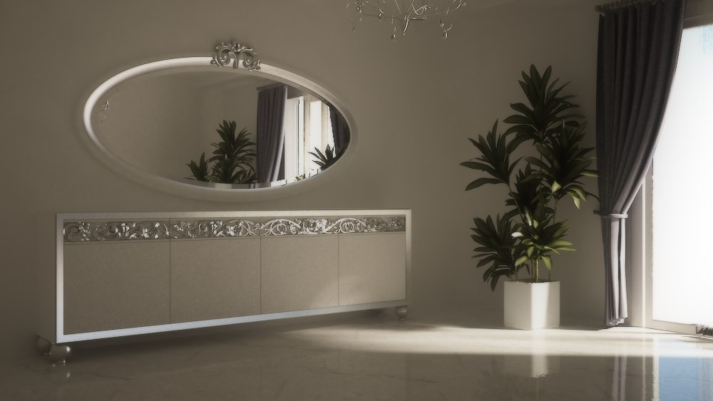 modern dining room sideboard 3d max