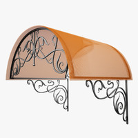 Wrought Iron Awning 2