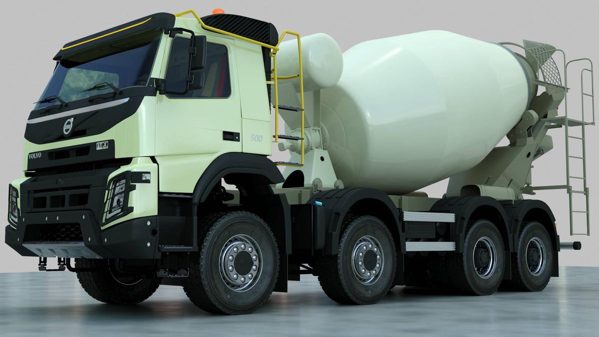fmx truck concrete mixer 3ds