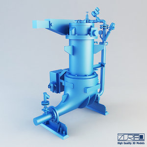 3d model of ash vessel na pump