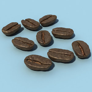 3d coffee beans model
