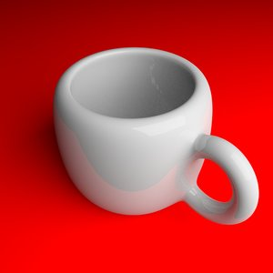 3d cup drinking tea model