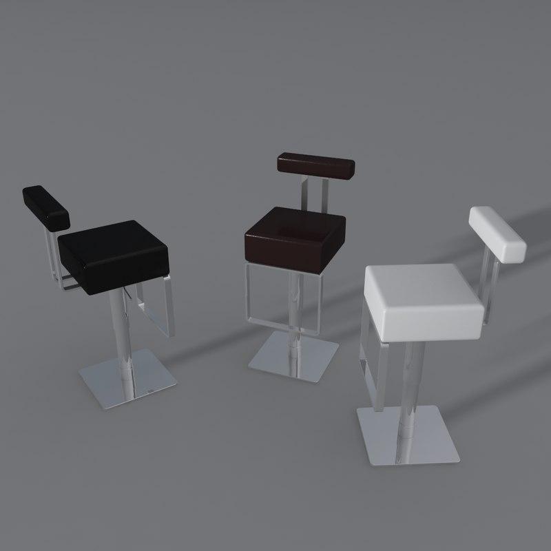 bar stool dan form 3d max