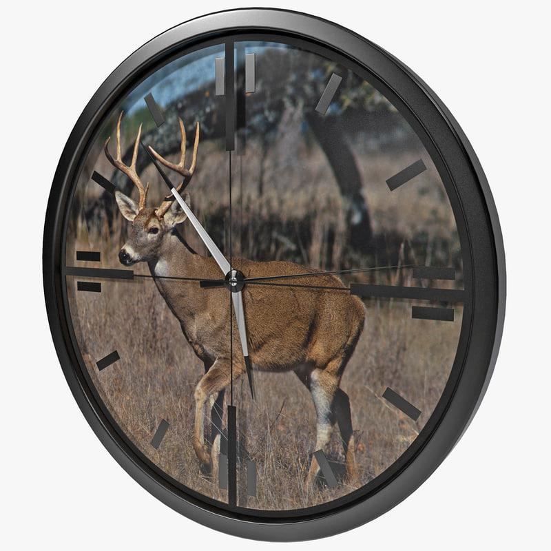 deer scope wall clock lwo