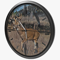 Deer Scope Wall Clock