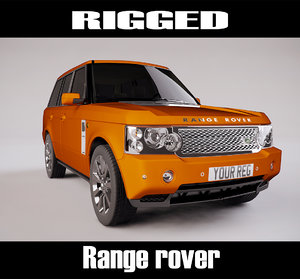 range rover rigged 3d model