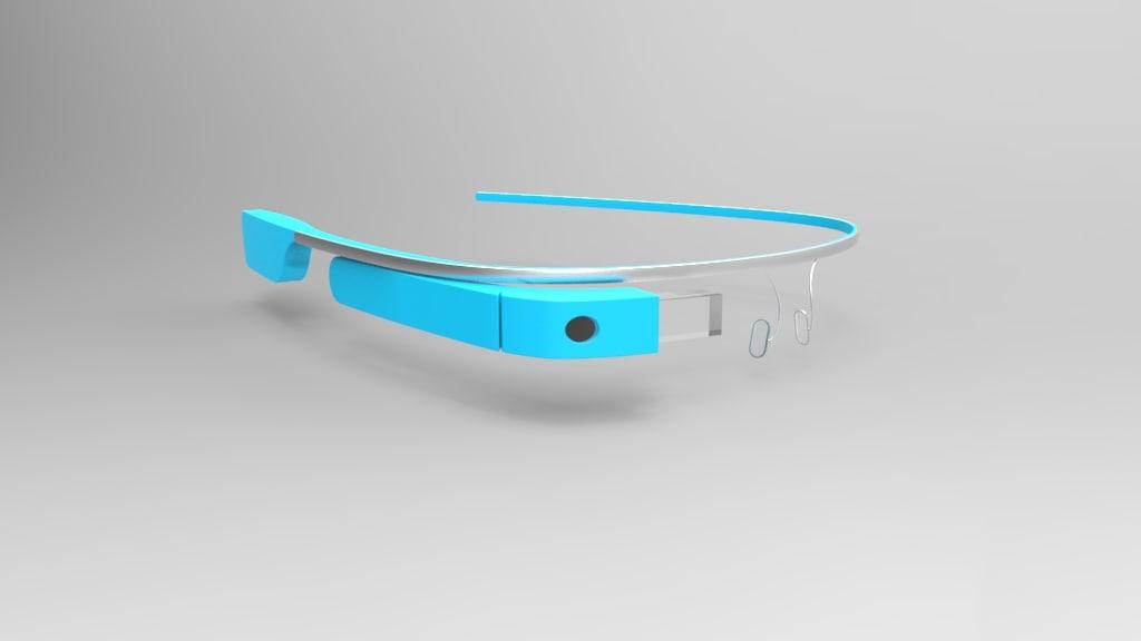3d google glass model