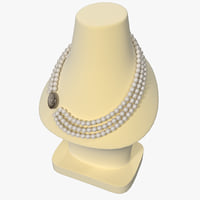 3d jewellery display bust necklace