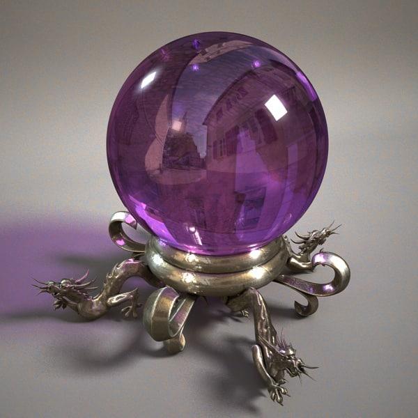 3d model oracural magic orb