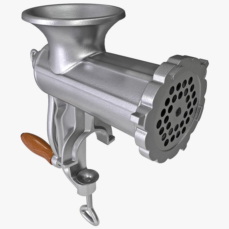 3d model manual meat grinder