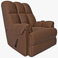 3ds max padded massage rocker recliner
