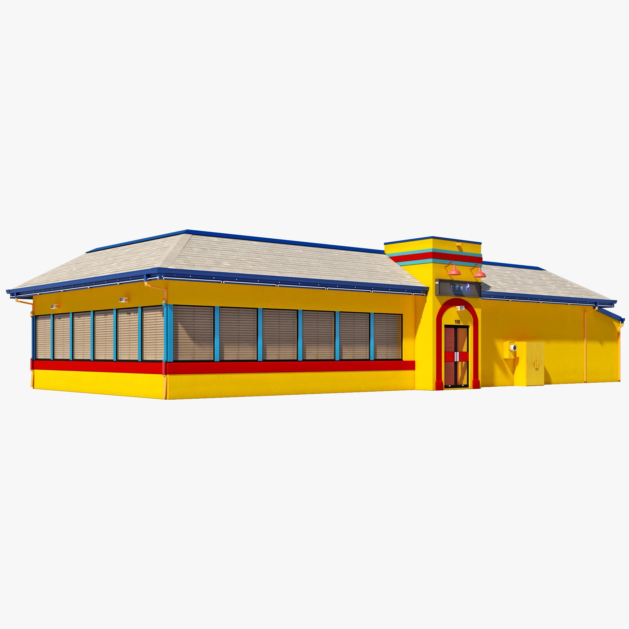 restaurant house scene 3d c4d