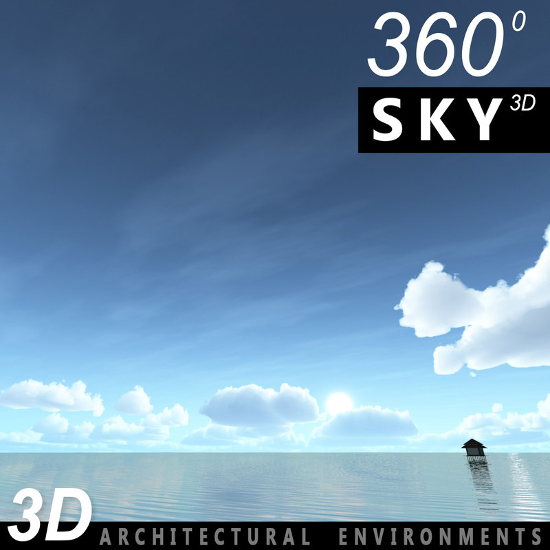 sky clouds 3d obj