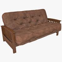 sofa futon 3d model