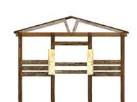 3d animal horse pen stall