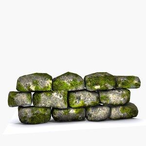 obj modular stone wall