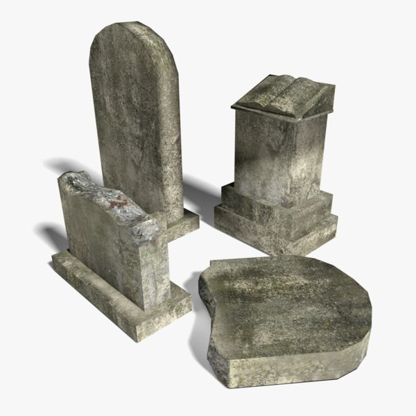 3ds max tomb stones