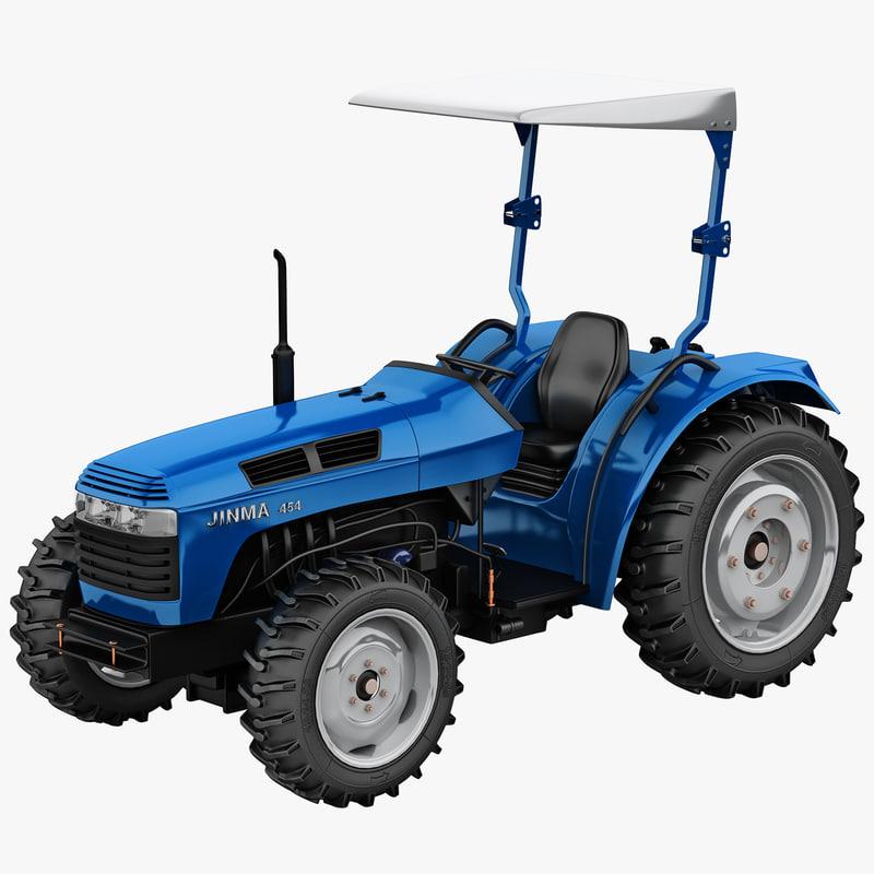 tractor jinma 454 blue 3d model