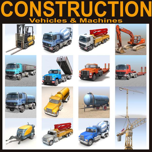 construction vehicle c4d
