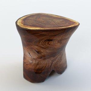 3d table trunk slab model