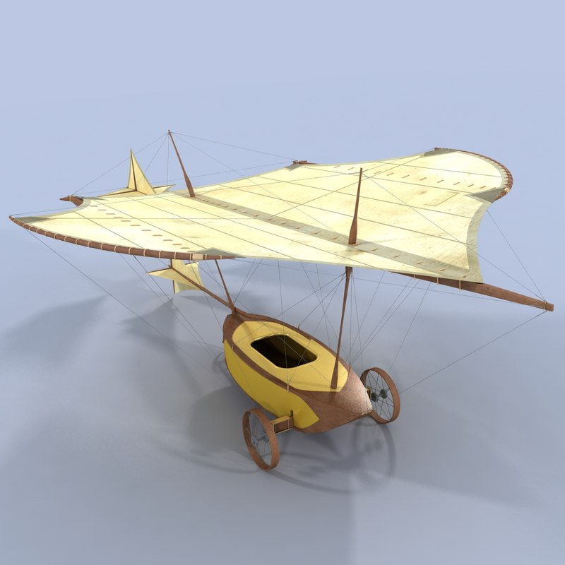 george cayley glider 3d max
