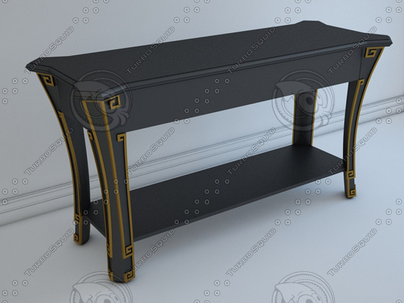 model console table