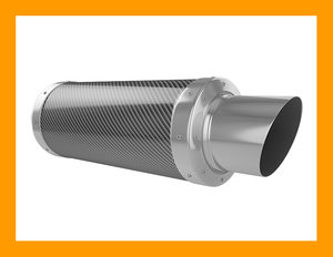 sport carbon exhaust 3d model