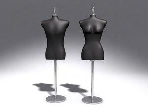 3d model dummy showroom mannequin