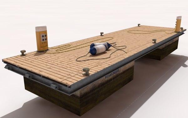 pier dock floating 3d max