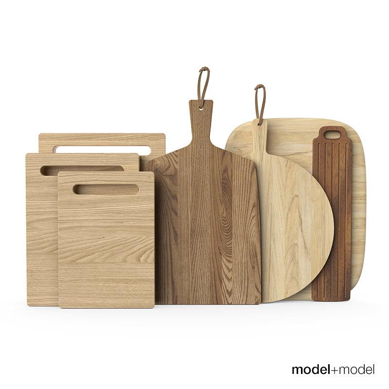 3d model wooden chopping boards