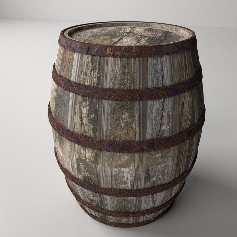 3ds max wooden barrel