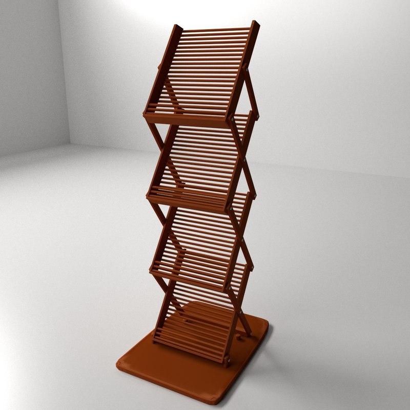 3d model literature stand