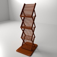 3d model literature stand