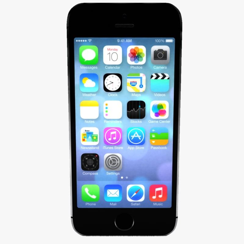 iphone 5s 3d max