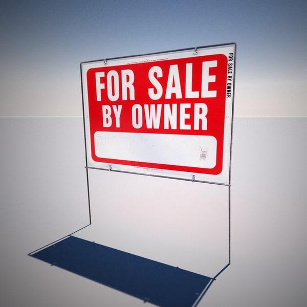 3d sale yard sign model