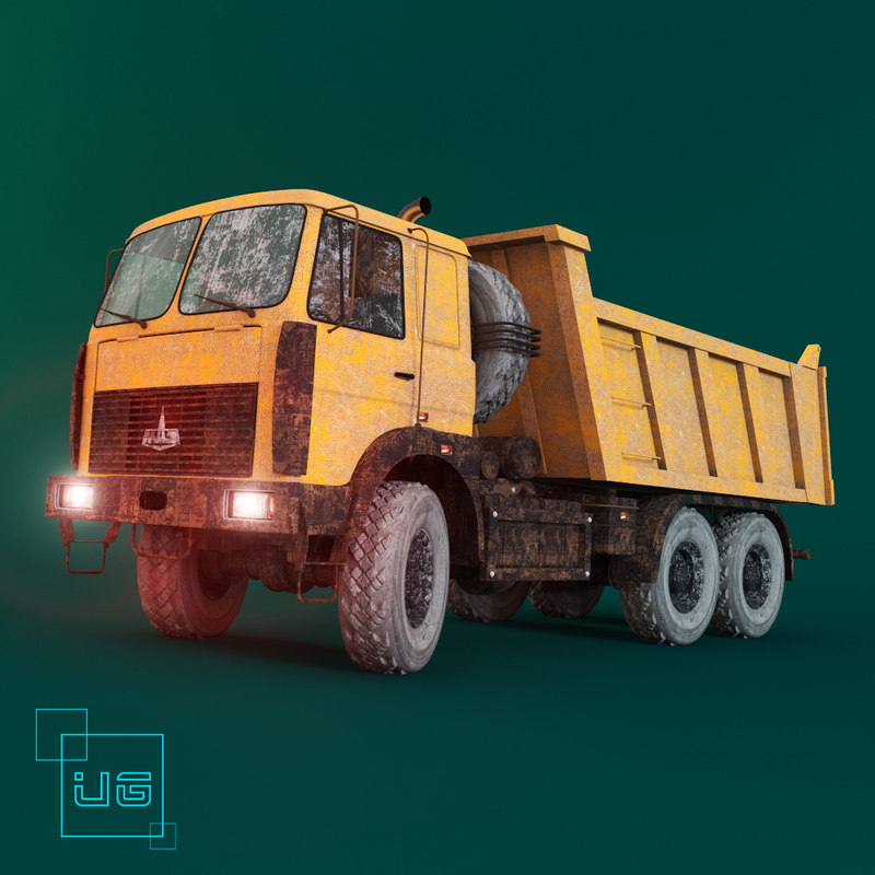 car truck dumper maz 3d model