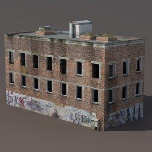 derelict modeled 3d model