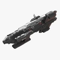 3d model of spaceship heavy