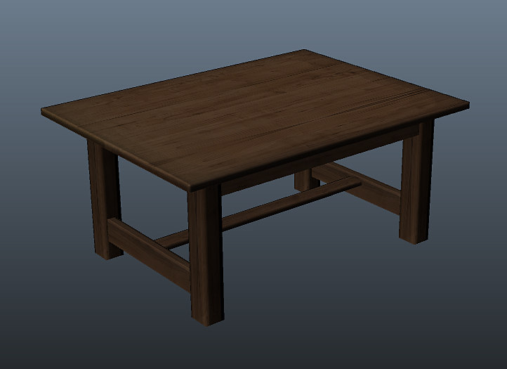 wooden table obj free