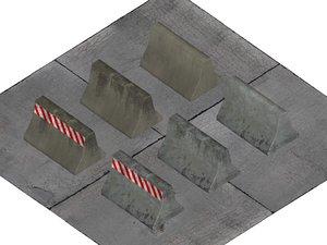 3d model beton barrier