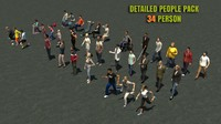 34 persone Casual Urban 3d Pack