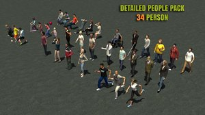 casual people pack 34 3d model