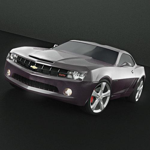 3d model camaro realistic materials