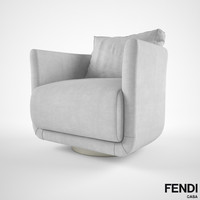 3d fendi casa artu armchair model