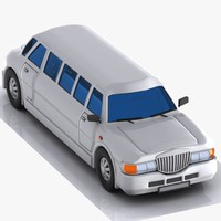 3d model cartoon limousine limo