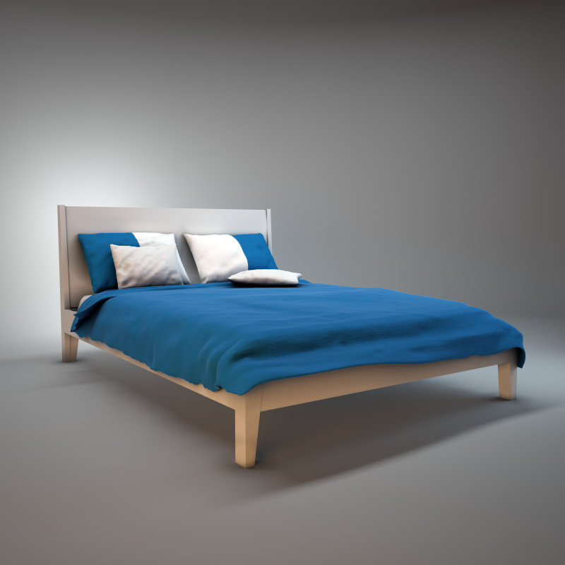 Ikea nordli bed 3d model - Letto nordli ikea ...