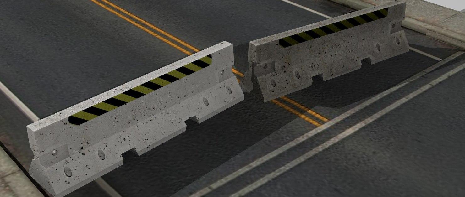 3d model road concrete